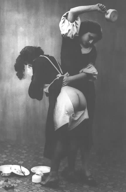 Vintage spanking erotica, 1800s.