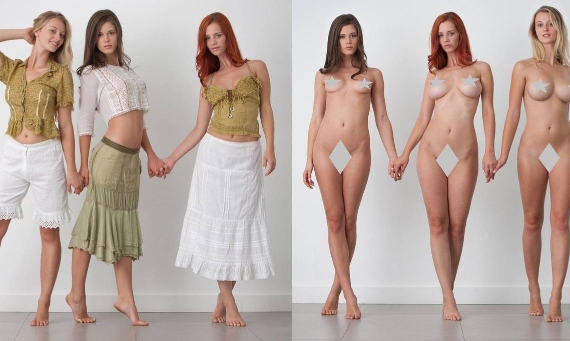 Women dressed nude